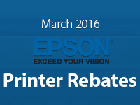 Epson Printer Promos for March 2016