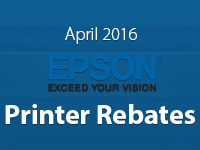 Epson Printer Promos for April 2016