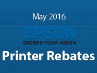 Epson Printer Promos for May 2016