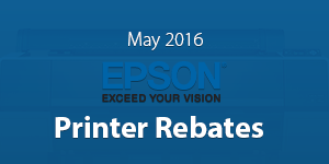 May 2016 Printer Rebates from Epson