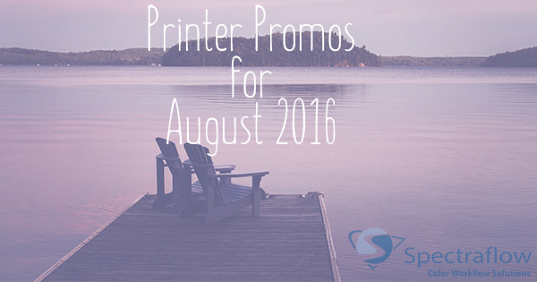 The latest printer promos from Canon, EPSON, HP for August 2016