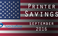 Printer Savings for September 2016