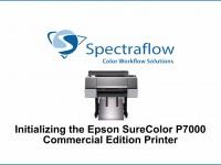 SureColor P7000 CE Initializing