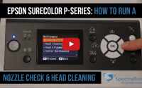 Tech Tip: Epson SureColor P-Series How to Run a Nozzle Check and Head Cleaning